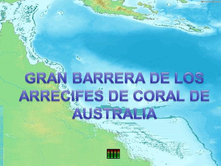 Barrera  de arrecifes de coral de Australia