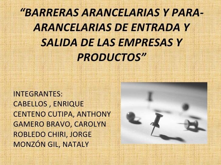 Barreras Arancelarias Dni