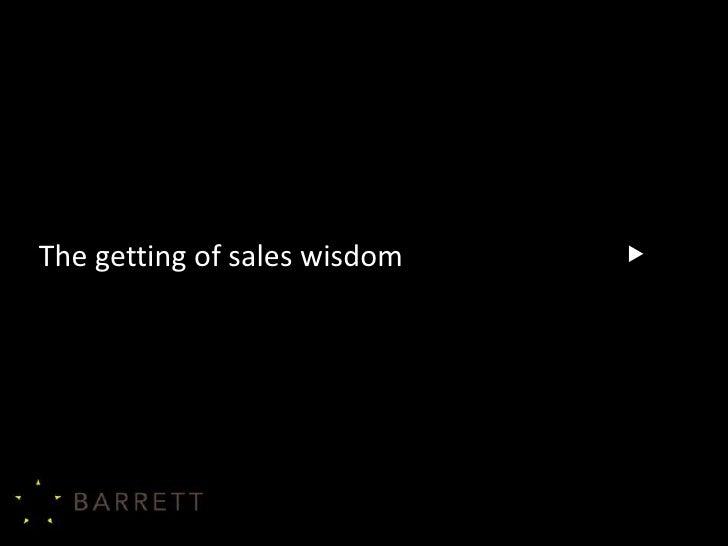 Barrett cse11 conference the getting of sales wisdom 2011 v4