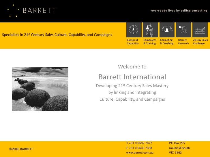 Barrett International Introduction