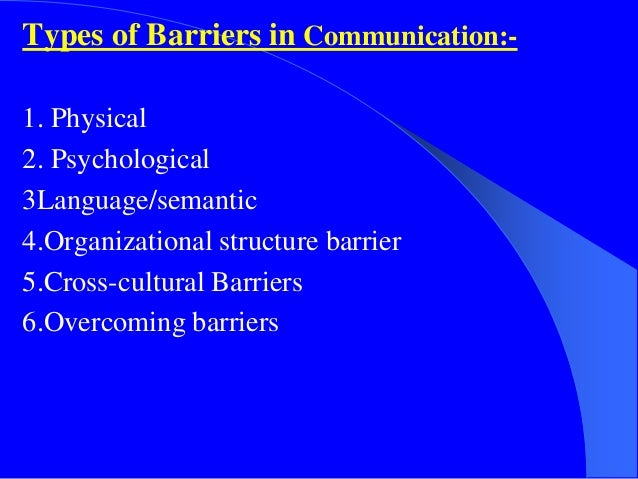 case study on psychological barriers to communication Psychological barriers to communication case study: psychological barriers to communication are the obstacles which occur in the process of communication because of the personal emotional condition of both sides of the conversation.