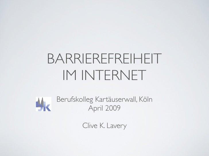 Einführung Barrierefreiheit Berufsschule