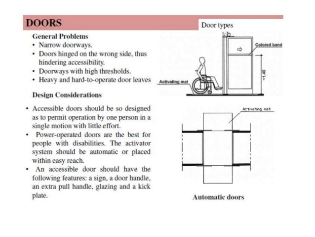 Barrier free architecture research paper