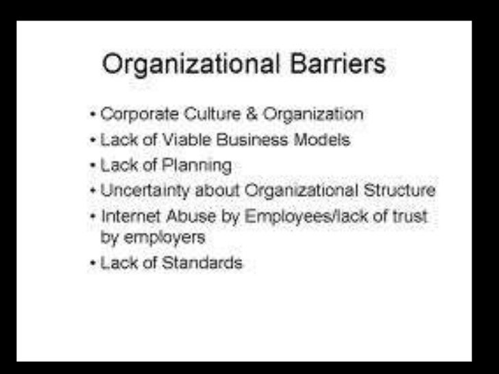 communication barriers in an organisation In an organization, the communication problems may occur even if the  employees  key words: cultural barriers, organizational communication, levels  of culture.