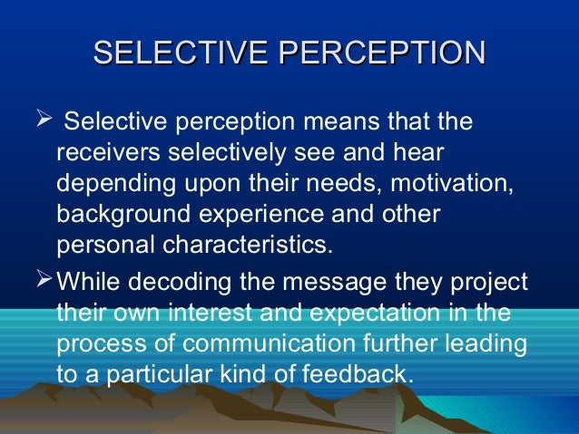 selective perception examples