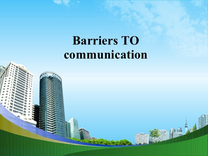 Barriers to communication ppt @ bec doms