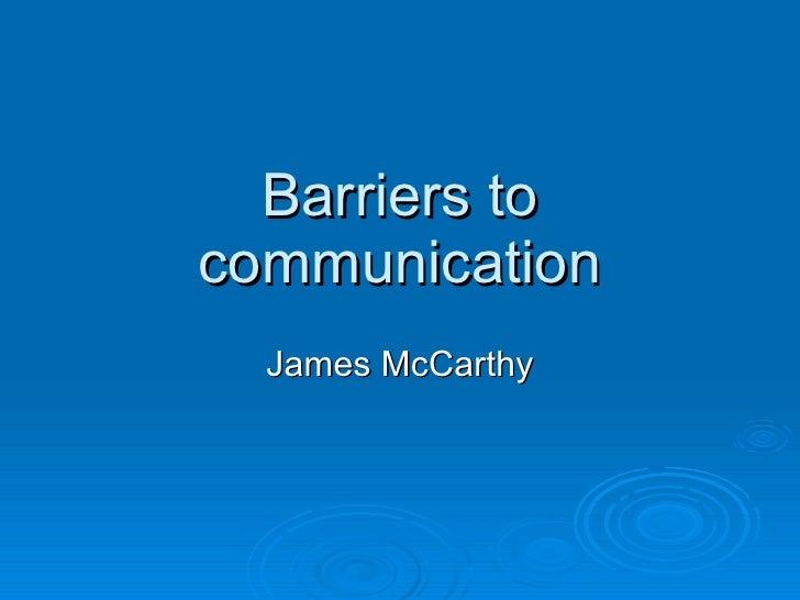 Communication presentation