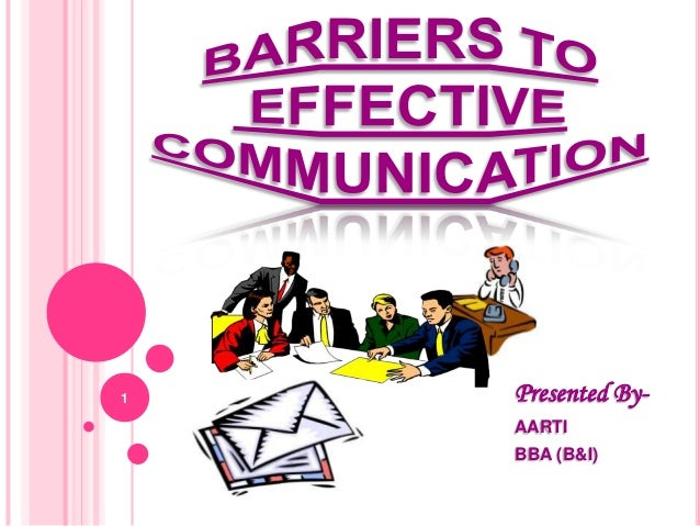 Barriers to effective ...