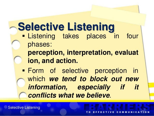 the perception of listening essay Listening and perception 2 we humans are different and unique we can see these differences in everything we do and create interestedly we have a variety of views and concepts.