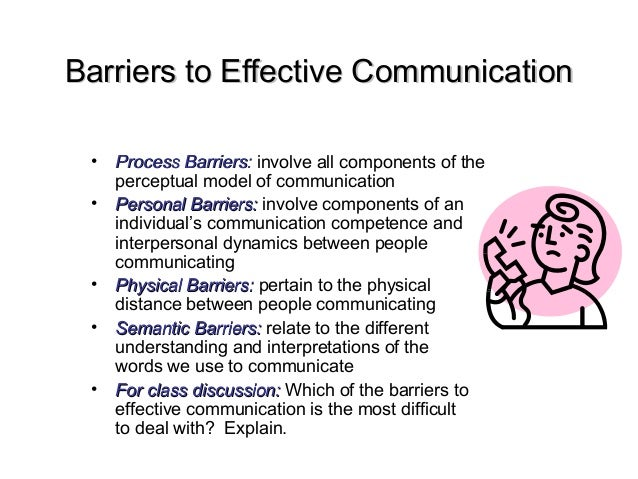 barriers to effective communication paper Since we communicate with others on a daily basis, one would assume we'd be  pretty good at, but we're not reflect on these 6 barriers to.