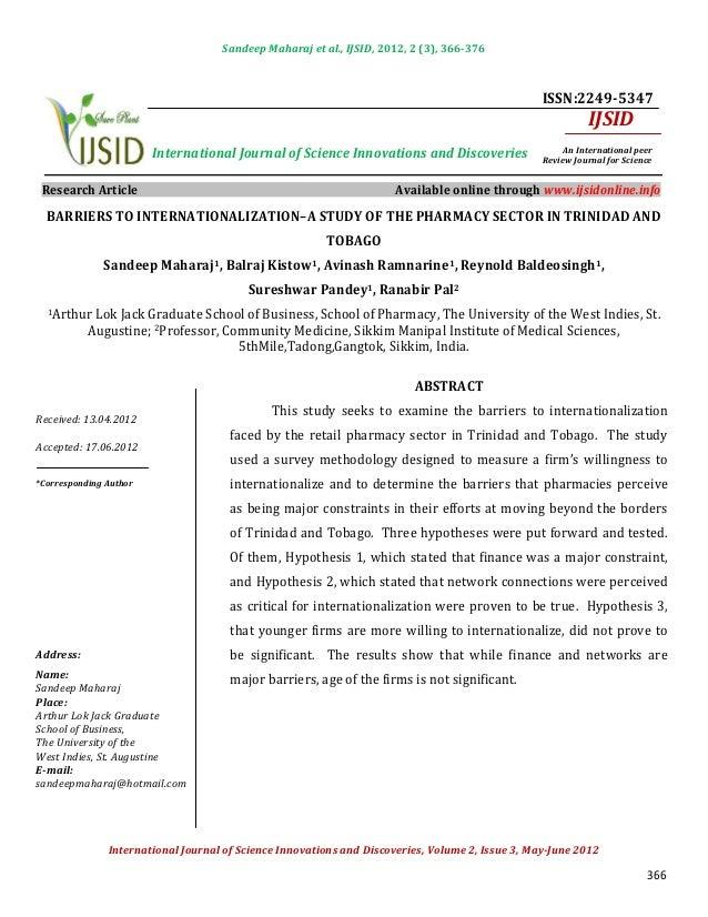 Sandeep Maharaj et al., IJSID, 2012, 2 (3), 366-376                                                                       ...