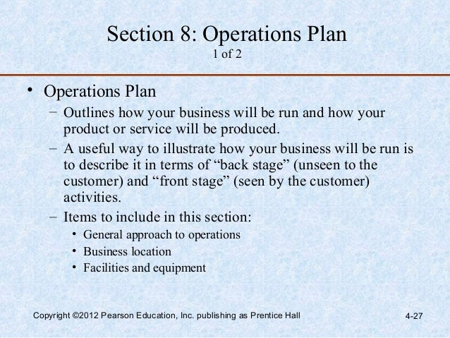Operations in a business plan