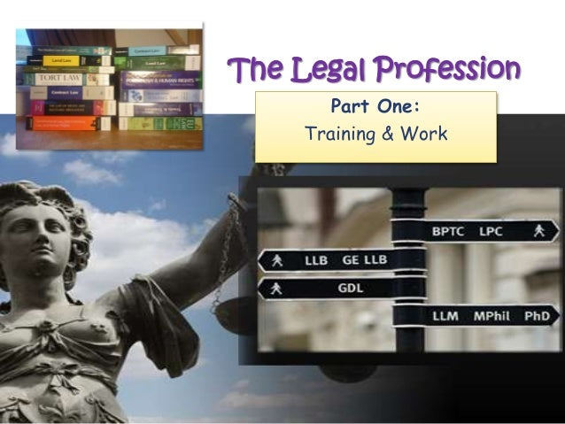 The Legal ProfessionPart One:Training & Work