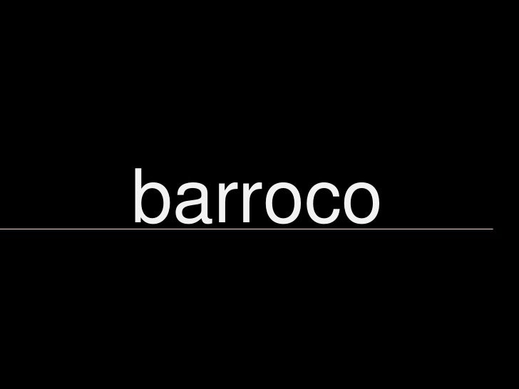 barroco<br />