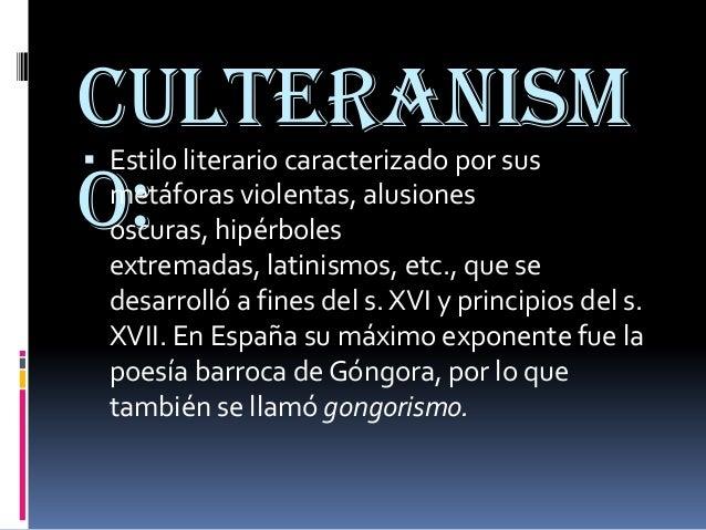 El Barroco (culteranismo, conceptismo) El Teatro y sus