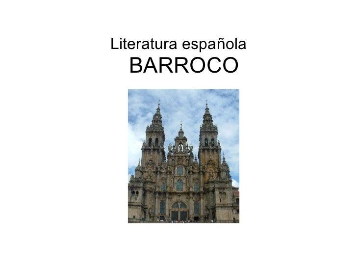 BARROCO Literatura española