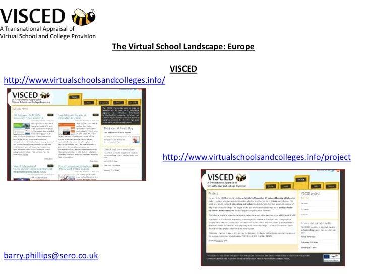 Barry Phillips - Sero - The Virtual School Landscape in Europe