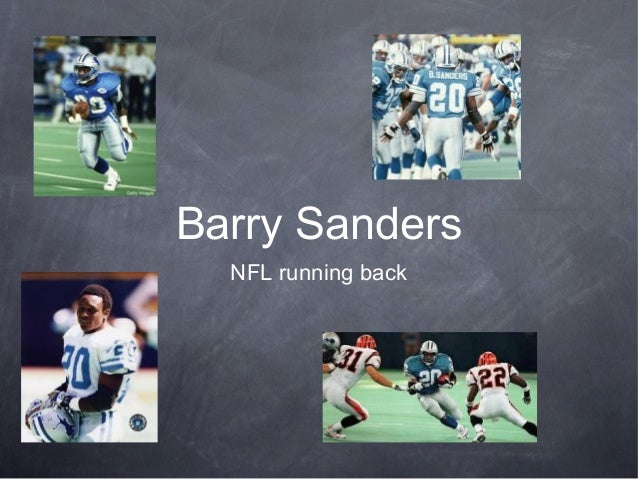 Barry SandersNFL running back