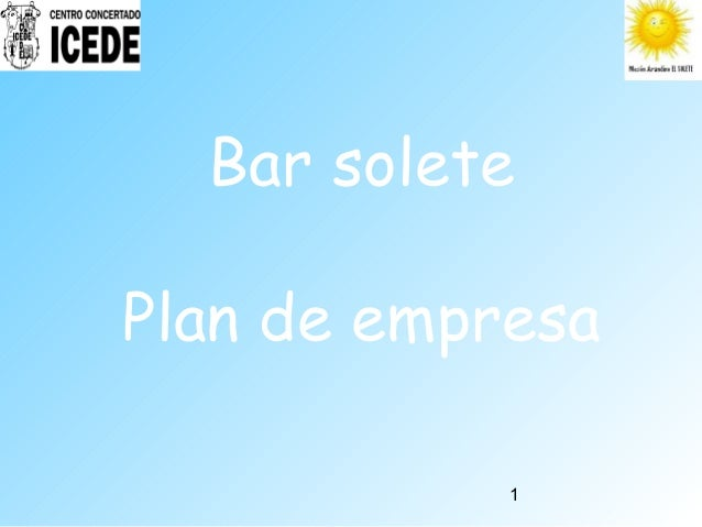 1 Bar solete Plan de empresa