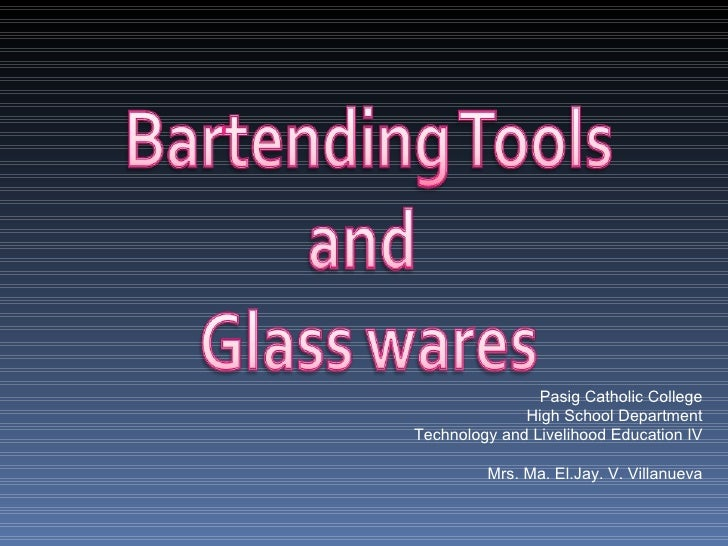 Bartending Tools And Bartending Tips