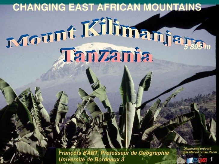 CHANGING EAST AFRICAN MOUNTAINS                                                 5 895 m                                   ...