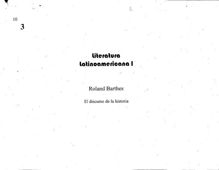 Barthes   el discurso de la historia