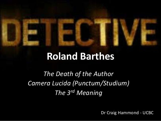 roland barthes death of an author essay