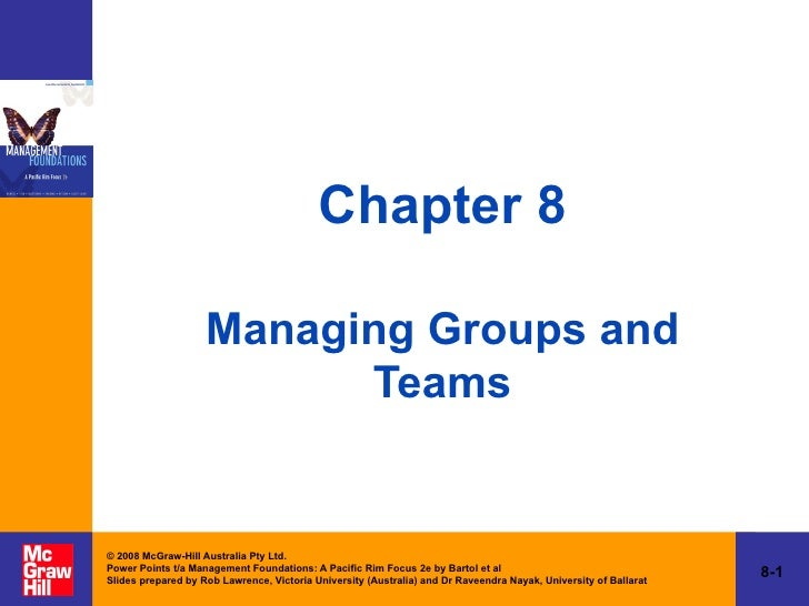 Chapter 8 Managing Groups and Teams
