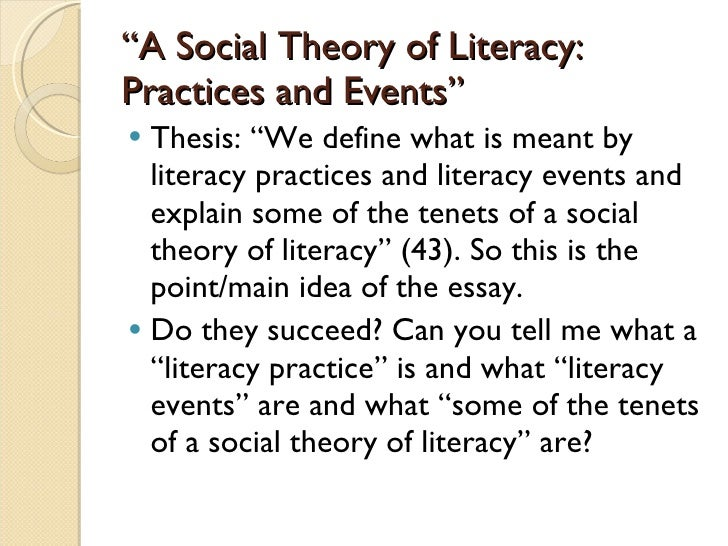 What does literacy mean to me essay