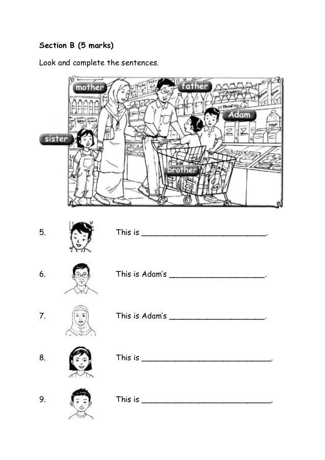 (Baru) kertas soalan bi tahun 1
