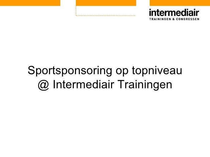 Bas Rotgans   Sponsoring