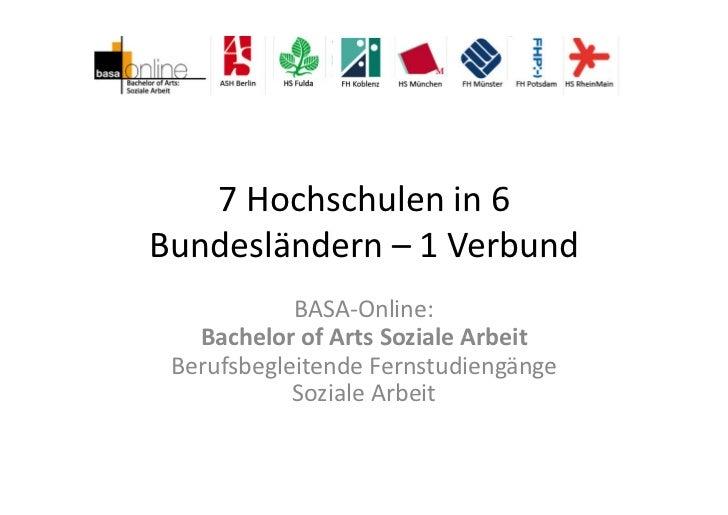 basa-online - Bundesländerübergreifende Entwicklung und Durchführung eines Studiengangs.