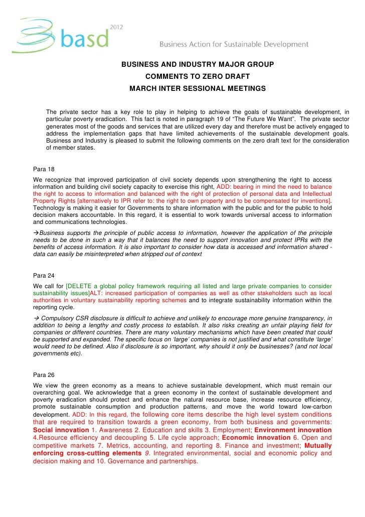BASD comments on zero draft