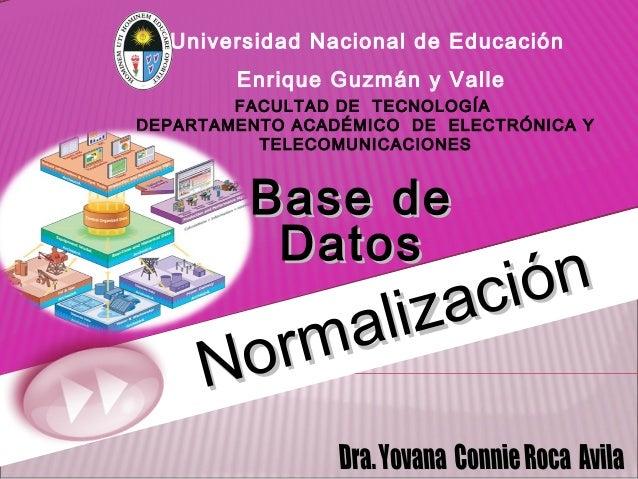 Universidad Nacional de Educación Enrique Guzmán y Valle FACULTAD DE TECNOLOGÍA DEPARTAMENTO ACADÉMICO DE ELECTRÓNICA Y TE...