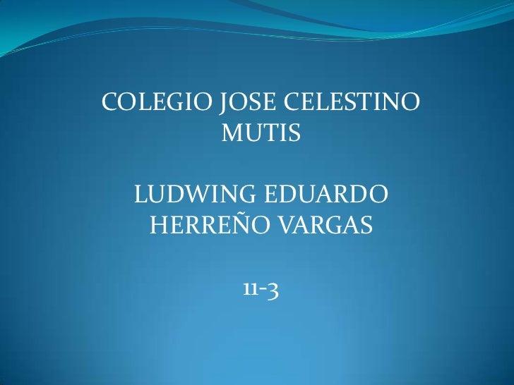 COLEGIO JOSE CELESTINO        MUTIS  LUDWING EDUARDO   HERREÑO VARGAS         11-3