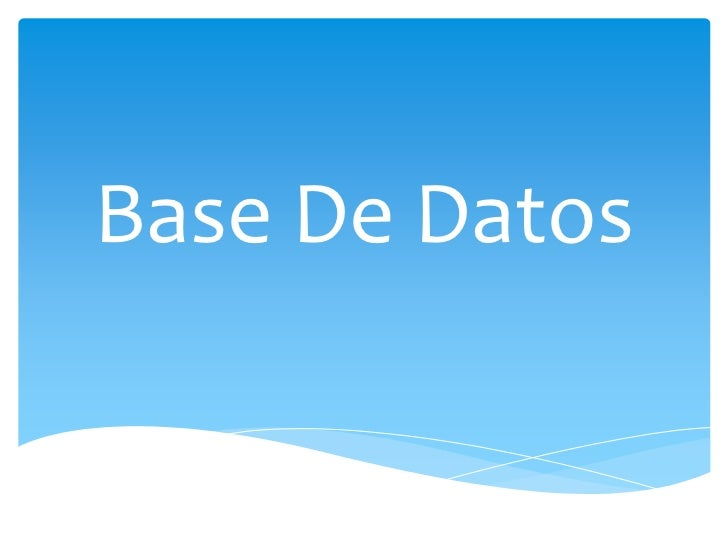 Base de datos jairo