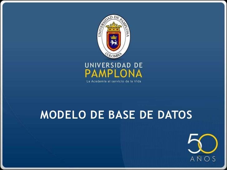 MODELO DE BASE DE DATOS<br />