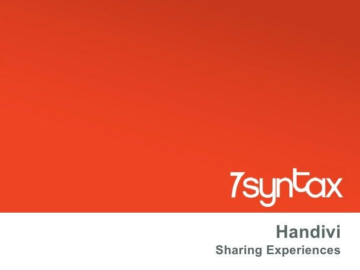 Handivi Sharing Experiences