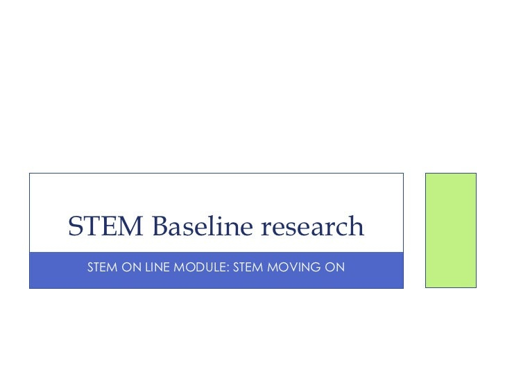 Baseline Research Summary