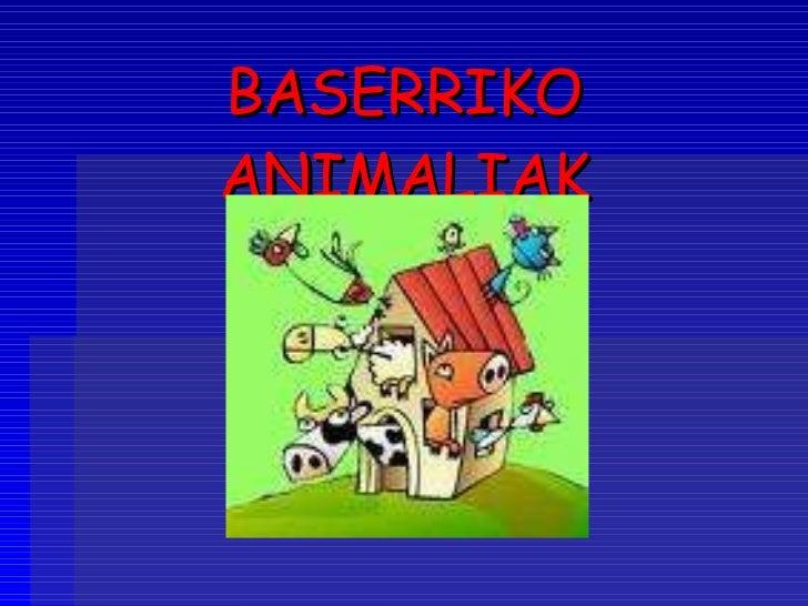 BASERRIKO ANIMALIAK