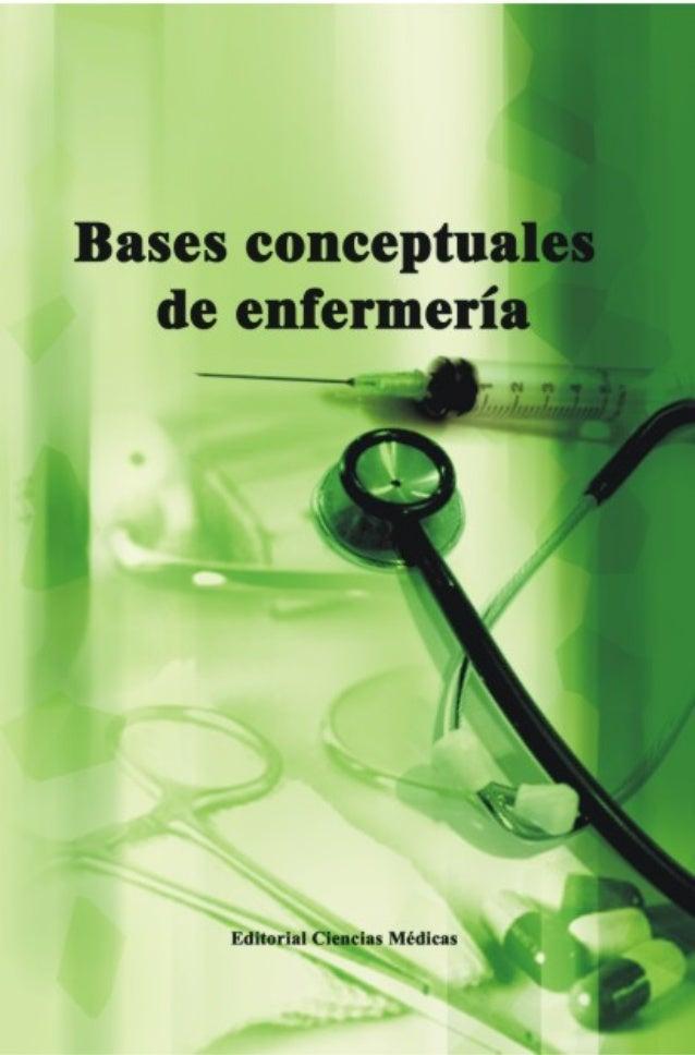 Bases conceptuales de enfermería  1