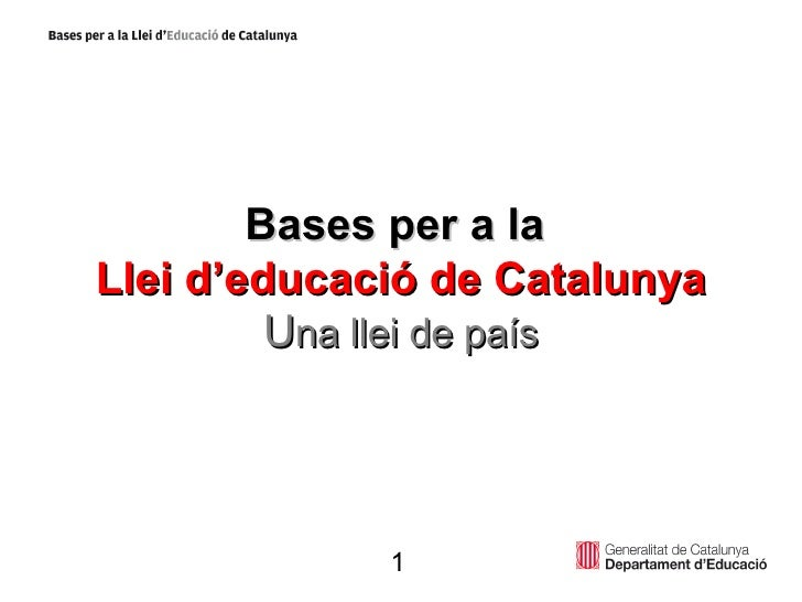 Bases Llei Ppt