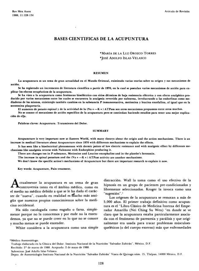 Bases cientificas de la acupuntura