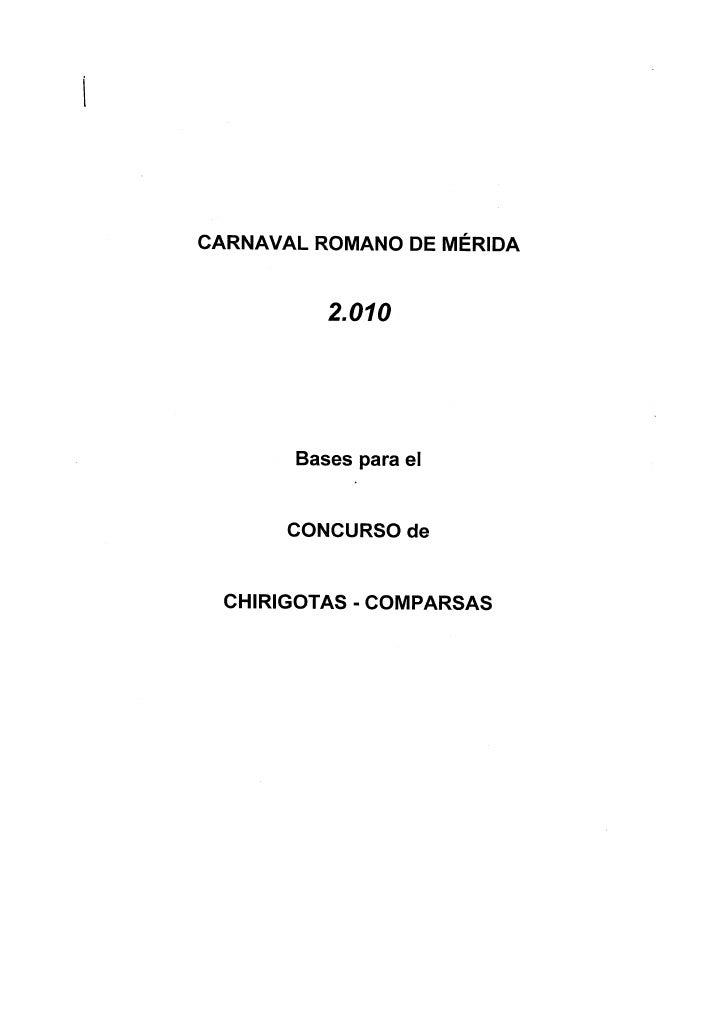 Bases Concurso Carnaval Merida
