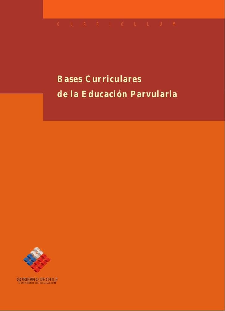 Bases curriculares preescolar