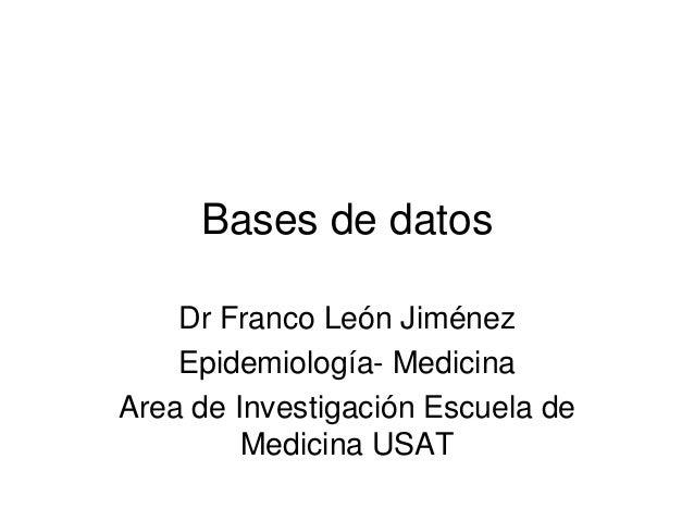 Bases de datos.ppt 24 de enero 2014
