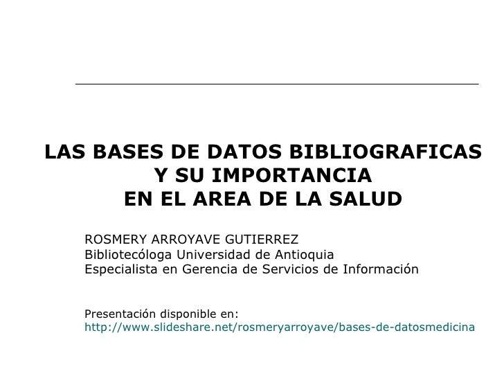 Bases de datos_medicina