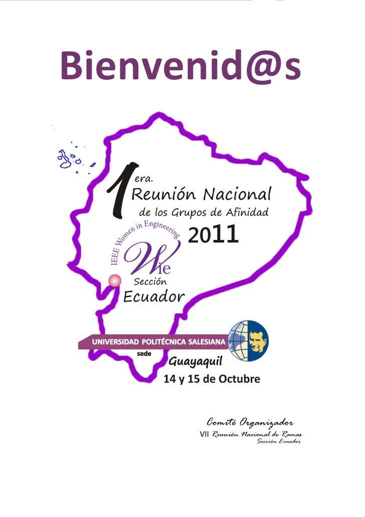 Mujeres en IngenieríaBienvenid@s                                        Comité Organizador                                ...