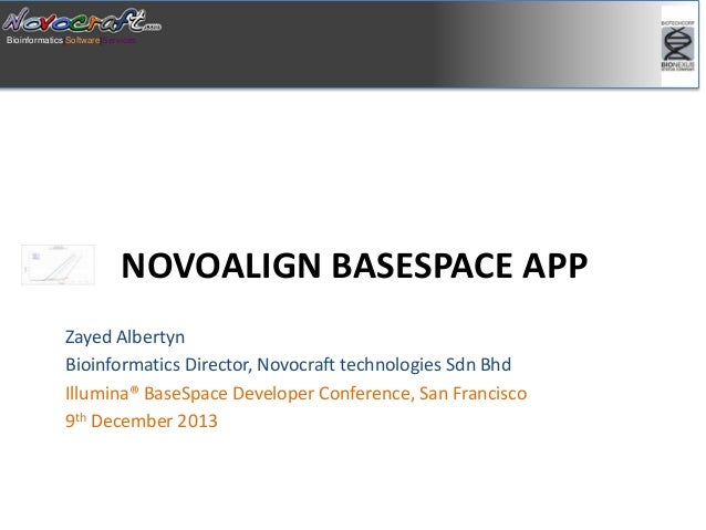 Talk at BaseSpace Developer conference SF 2013