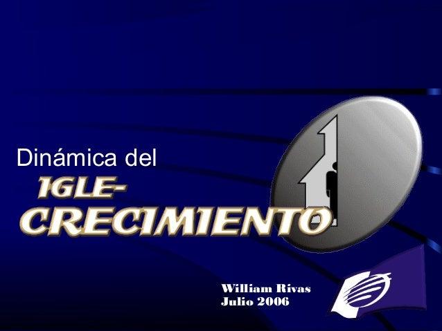 Iglesia Pentecostal Unida Hispana 1 William Rivas Julio 2006 Dinámica del